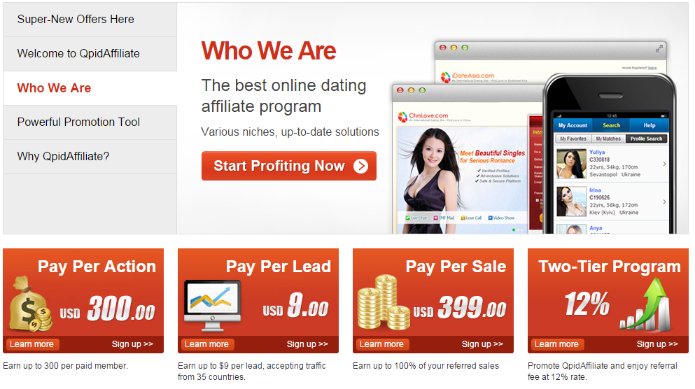 Adult dating sites paypal affiliate programs