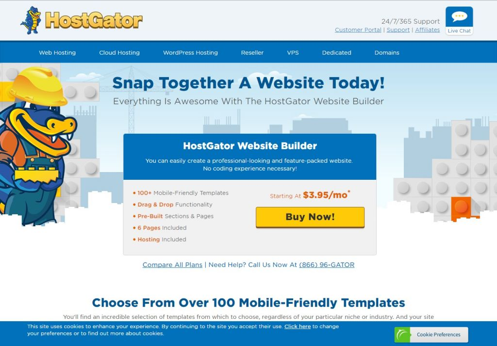 HOSTGATORWEBSITEBUILDERQuickly Create A Website With